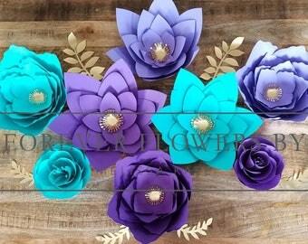 READY TO SHIP! Jasmine Set: Large Customizable Paper Flower Backdrop Display(8 flowers) (princess Jasmine, birthday, party, disney, wedding)