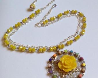 Beautiful Yellow Sun necklace