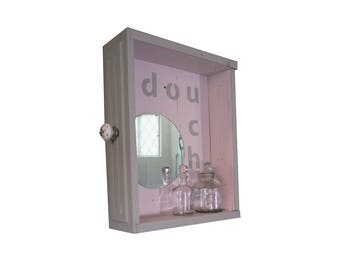 Toilet bag with mirror shower shelf