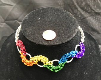 Rainbow Stepping Stones Choker
