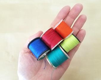 Rainbow Vintage Polyester Thread Destash