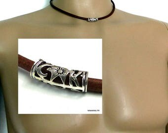 Man N1586 leather cord necklace