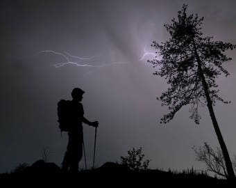 Hiker of the Storm