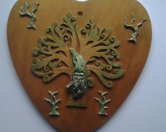 Green man hanging heart