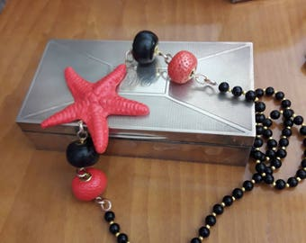 Coralloni and starfish necklace in fimo