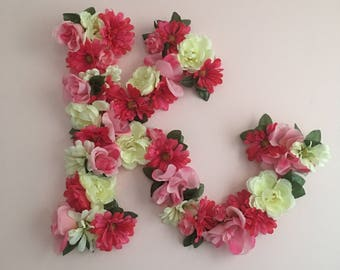 Floral wall letter