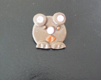 Brown bear head