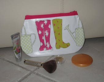 Makeup - rain boots and watering can garden theme