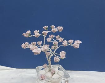 Porcelain lilac rose tree