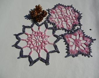 Doilies crochet hand made Christmas decoration