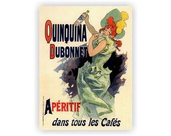 DUBONNET APERITIF - La Belle Epoque period French poster print - various sizes