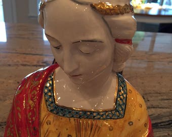 Vintage madonna statue made in italy 165x 85mm (1c shipping )
