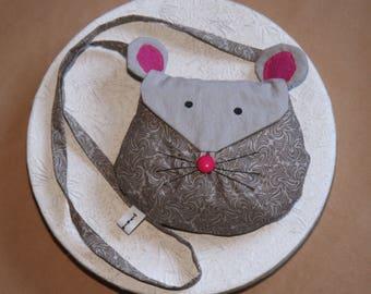 My first girl bag, mini hand bag - girl mouse