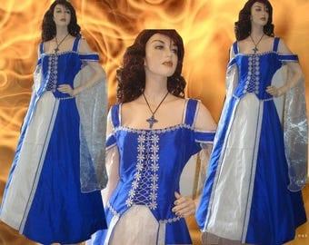 Medieval dress medieval dress 100% silk