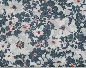 "Coupon genuine Liberty of London fabric gray 186 - ""Jody""."