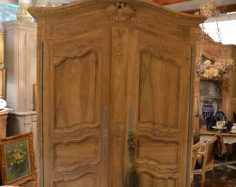 Two doves louis xv French Provence decapee raw wedding Cabinet