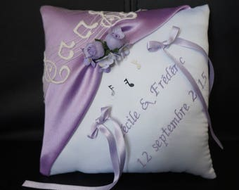 purple violet cushion