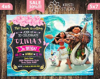 Moana Invitation - Moana Girl Invitation - Moana Girl Birthday - Moana Birthday Invitation - Moana Girl Party - Moana Printable
