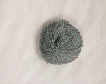 Silver and Seafoam Metallic Textured Yarn