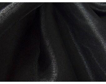 shiny black fabric