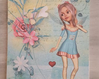 fairy heart line notebook