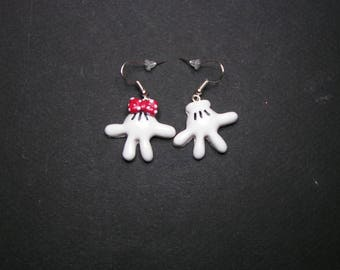 Tiny hand in polymer clay earrings
