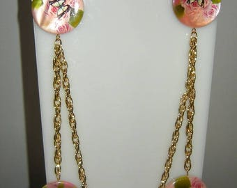 Necklace and Earring Set Golden Earring