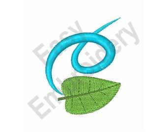 Falling Leaf - Machine Embroidery Design