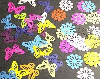 'Flowers and butterflies' cuts ((die cuts))