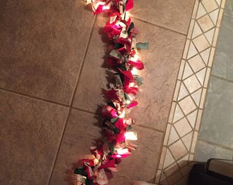 Lighted Christmas Material Garland