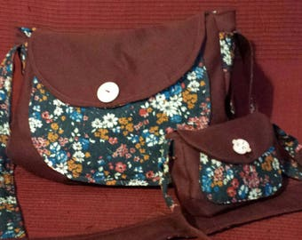 Small Hobo Burgundy and floral for girl