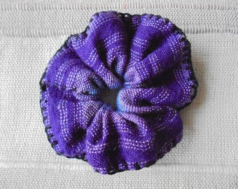 Pretty little fabric hair scrunchie size sewn hand