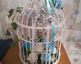 Shabby Chic BirdCage with floral decoration