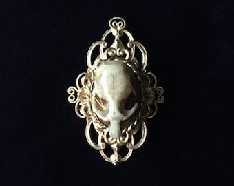 Gothic Steampunk Rat Skull Brooch