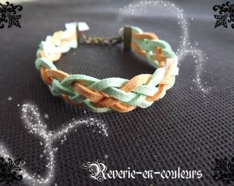 "Bracelet green suede with water and fishing ""Sweety"""