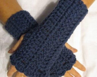 Blue women's mittens, gift