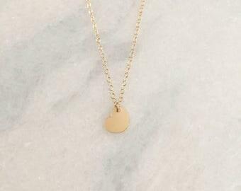 Tiny 14k Gold Filled Heart Dainty Necklace