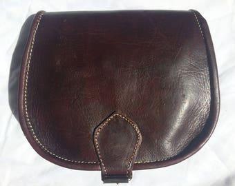 Hobo satchel shoulder 100% leather color Brown (dark Burgundy)