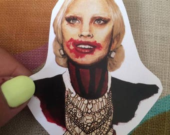 Lady Gaga As The Vampire Countess American Horror Story Sticker Or Magnet
