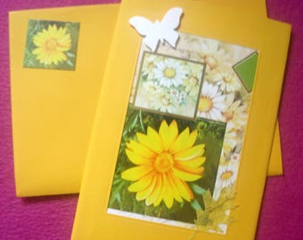 Jewelry card and matching envelope * flowers