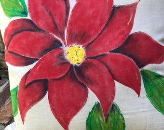 Poinsettia Pillow Cover