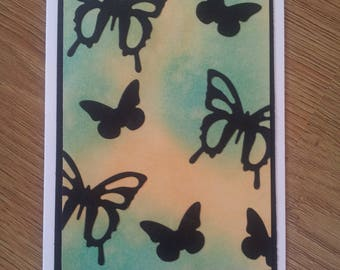Butterfly Silhouette Card