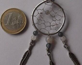 Pendant in silver and semi - precious 2 dream attapeur