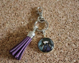 Purple girl keychain