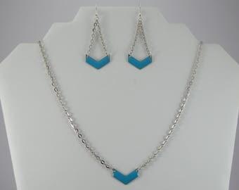 Blue chevron set