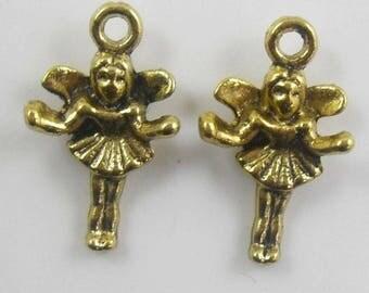 6 charms 3 D metal fairies