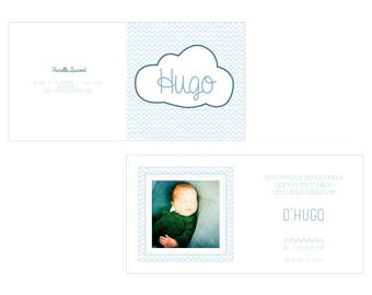 Cloud birth announcements