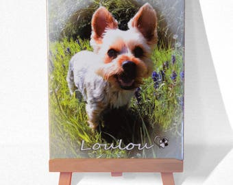 Earthenware personalised photo frame