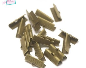 50 caps claw greenhouse Ribbon 20 mm, bronze