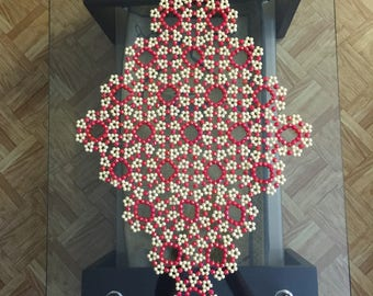 Plastic beads table mat